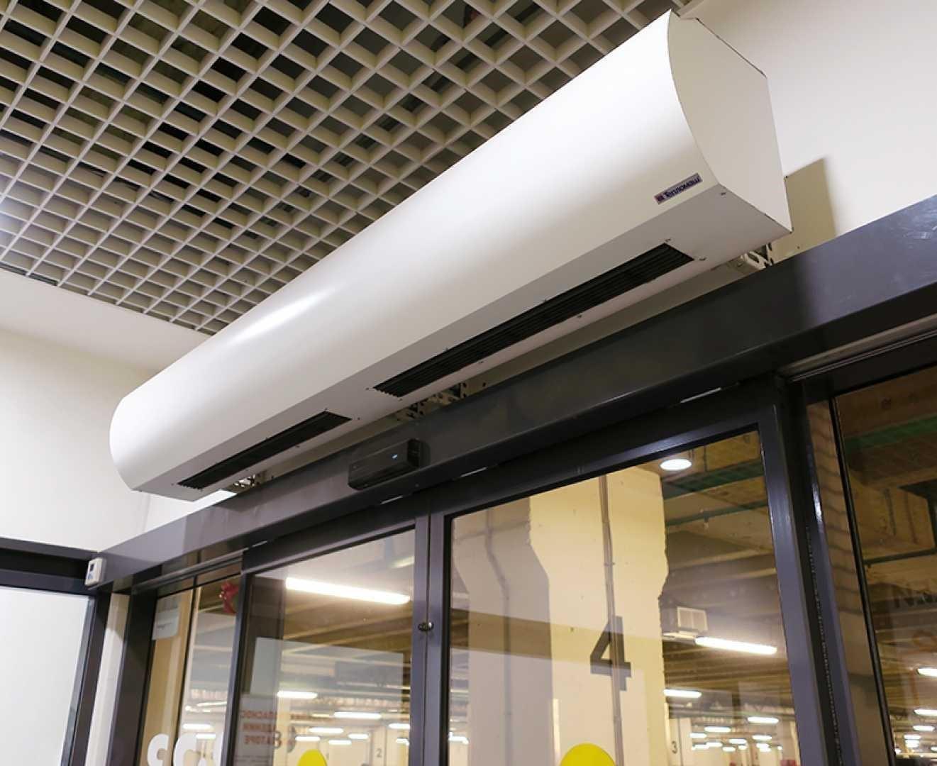 Тепловая завеса КЭВ-10П1063E - 10 кВт (длина 1,55 м.), для проемов высотой от 1-2,2 м.
