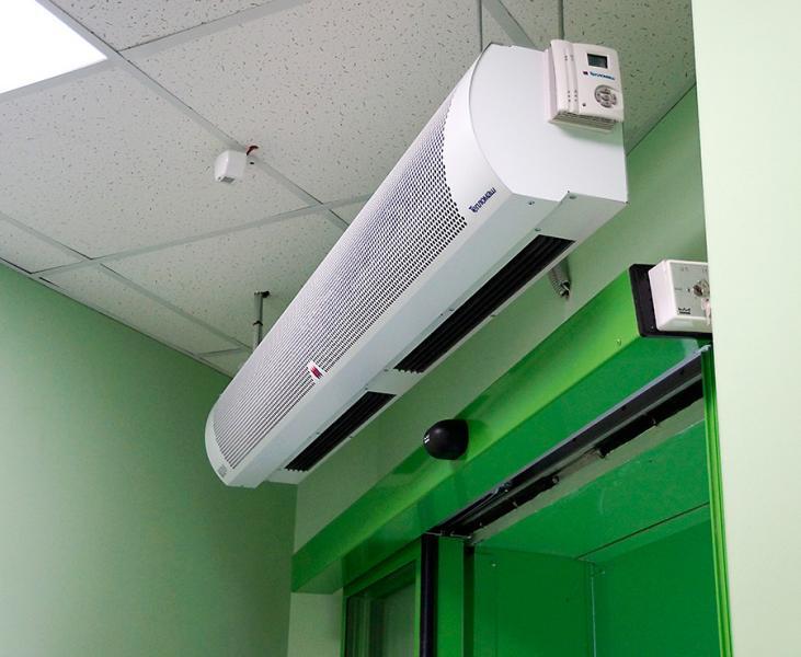 Тепловая завеса КЭВ-6П2211E - 6 кВт (длина 1 м.), для проемов высотой от 2-2,5 м.