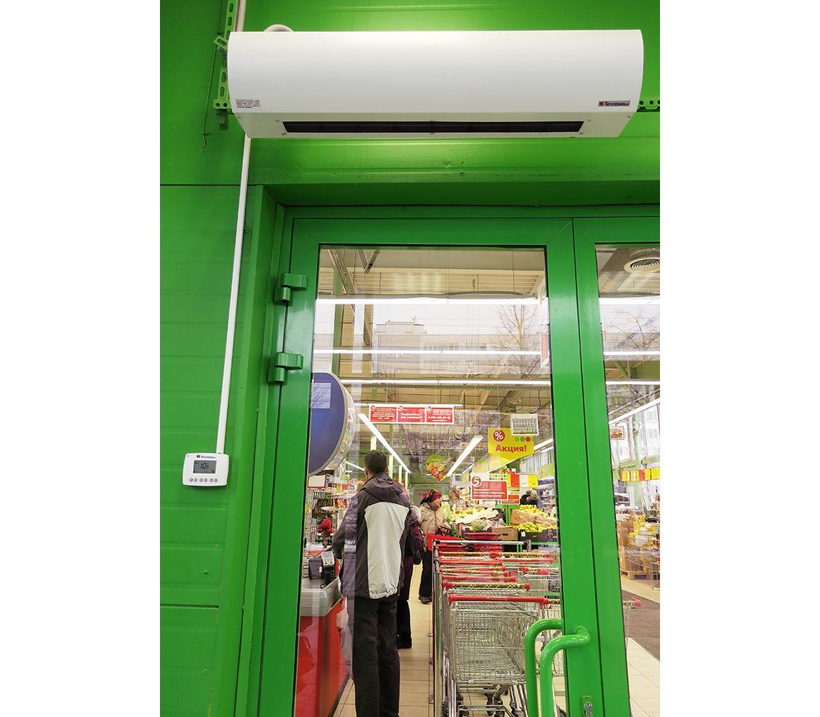 Тепловая завеса КЭВ-6П2012Е - 6 кВт (длина 1 м.), для проемов высотой от 2-2,5 м.